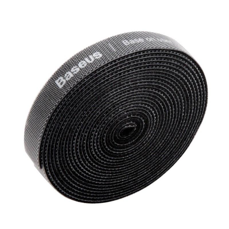 Baseus tépőzáras kábelrendező 3m - Fekete