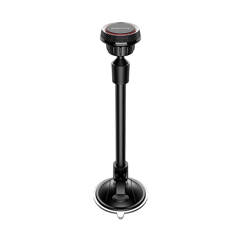 Borofone mágneses autós telefontartó szélvédőre Journey BH18 - Fekete/Piros