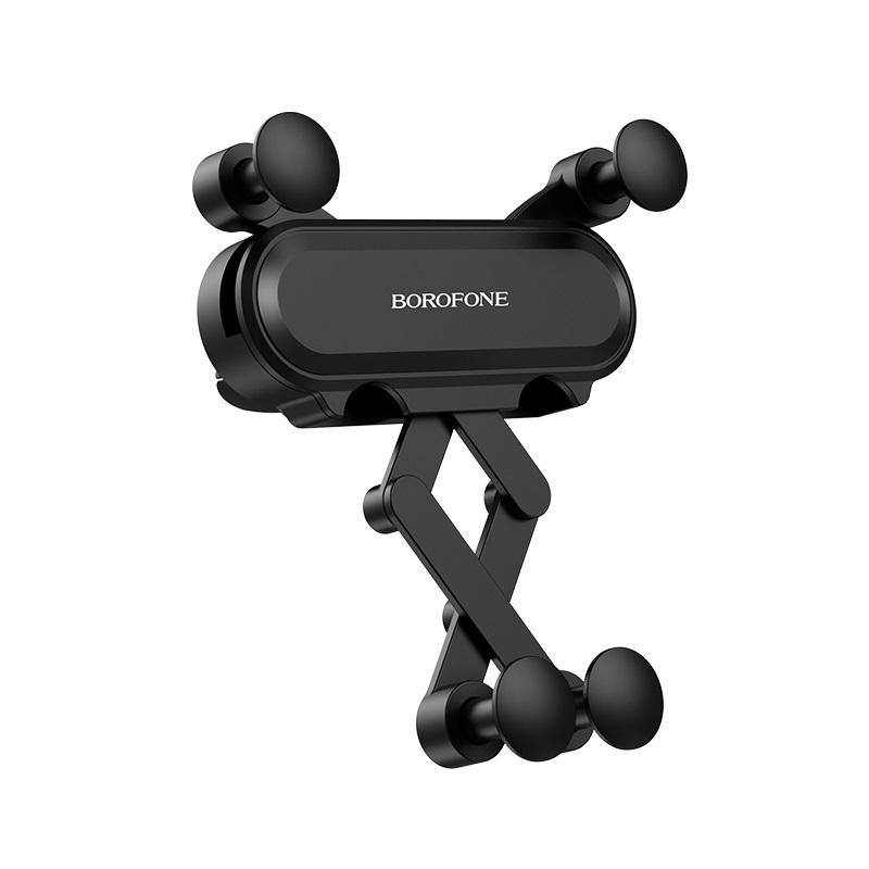 Borofone gravitációs telefontartó szellőzőrácsra Eddie BH19 - Fekete
