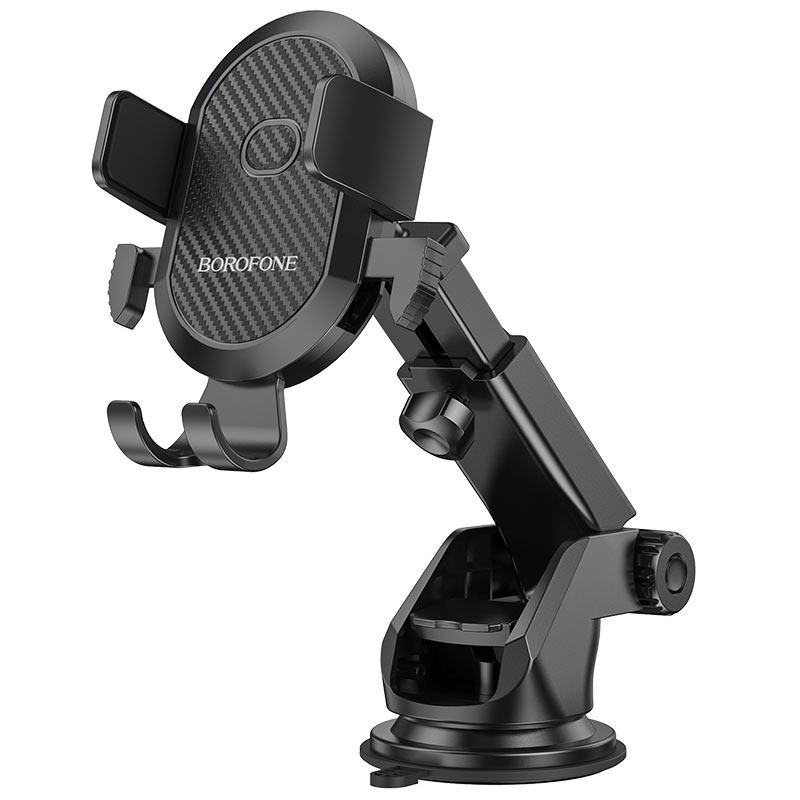 Borofone autós telefontartó szélvédőre/műszerfalra Amazing BH39 - Fekete