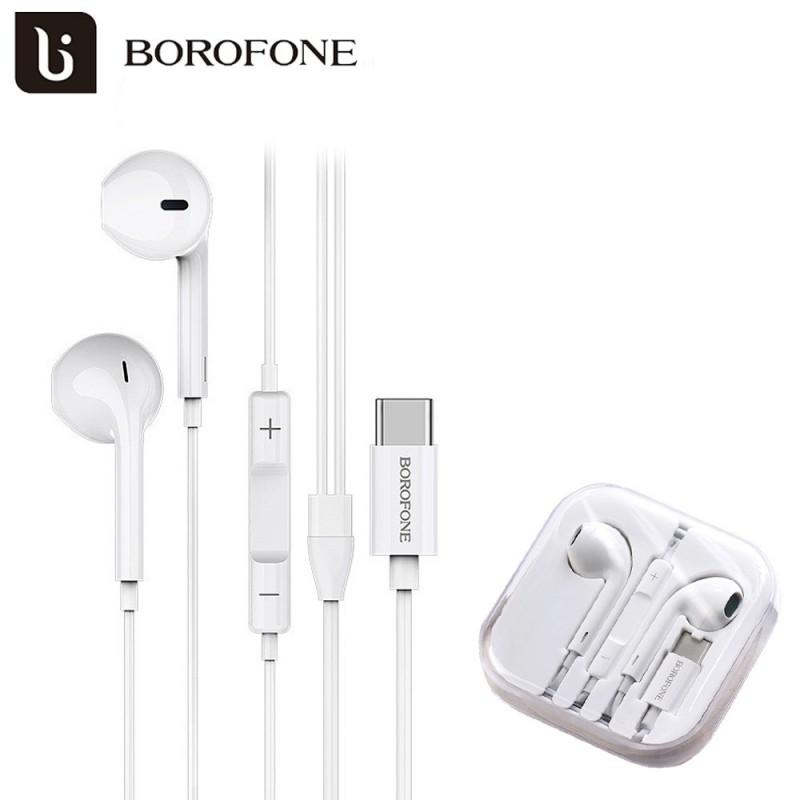 Borofone Amazing USB-C vezetékes fülhallgató/headset BM27 - Fehér