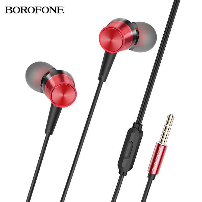 Borofone Revering vezetékes fülhallgató/headset BM52 - Fekete/Piros