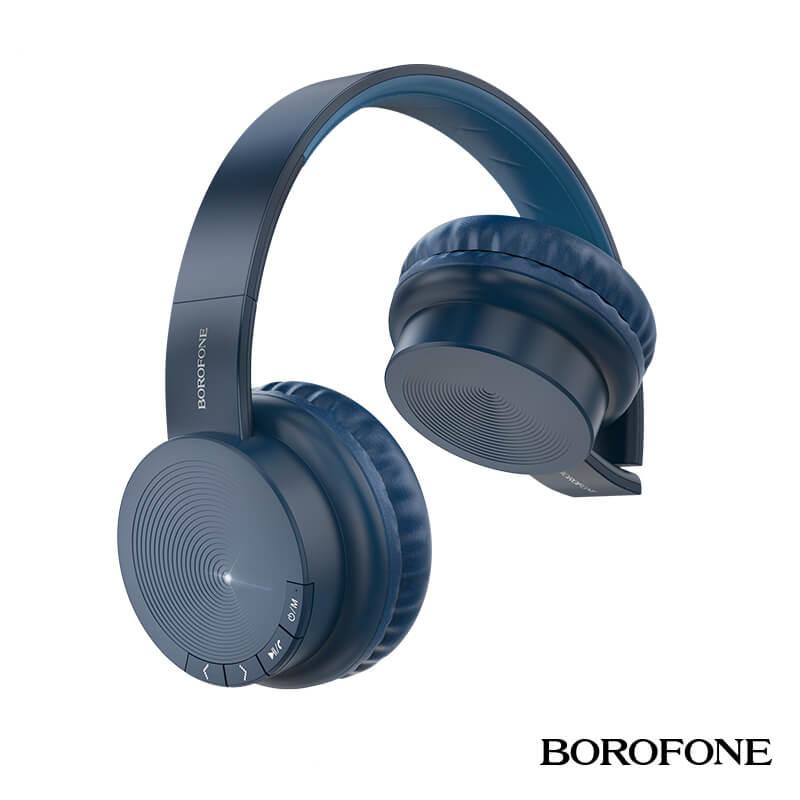 Borofone Bluetooth 5.0 vezeték nélküli fejhallgató/headset Maily BO11 - Kék