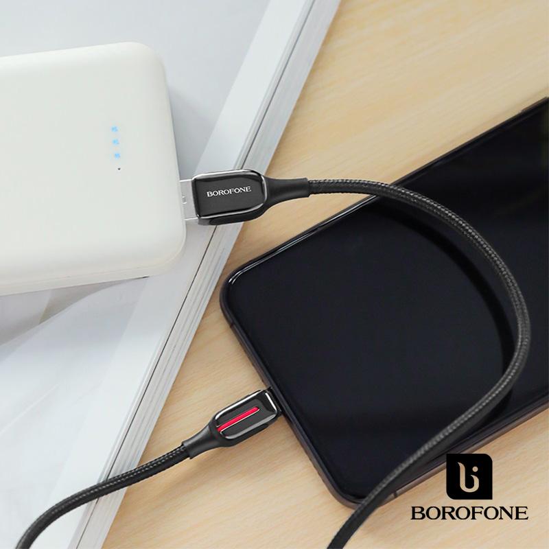 Borofone Heroic USB-C adat/töltőkábel 1,2m 5A BU14 - Fekete