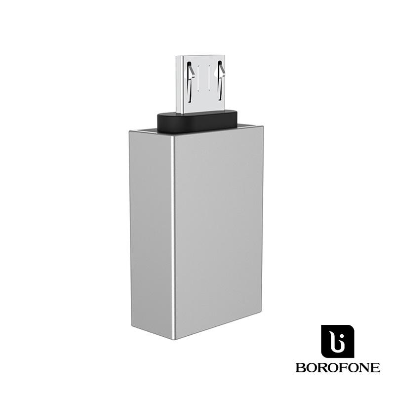 Borofone OTG/MicroUsb adapter BV2 - Ezüst