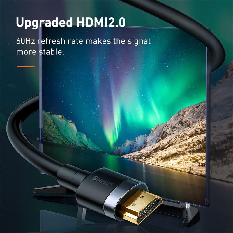 Baseus Cafule 4KHDMI - 4KHDMI adapter kábel 3m - Fekete