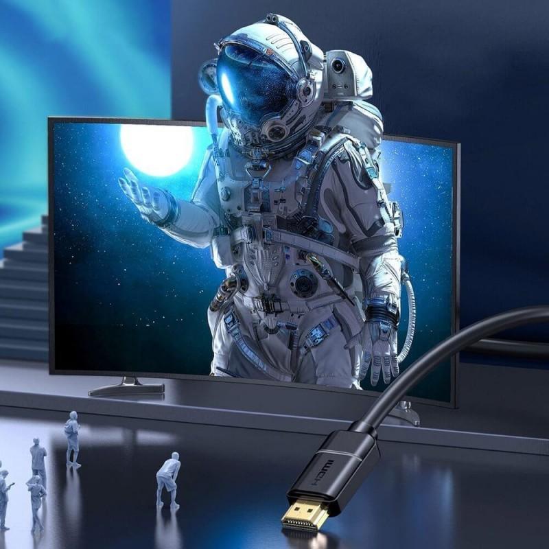 Baseus HDMI 2.0 kábel 4K 60 Hz 3D HDR 18 Gbps 3m - Fekete