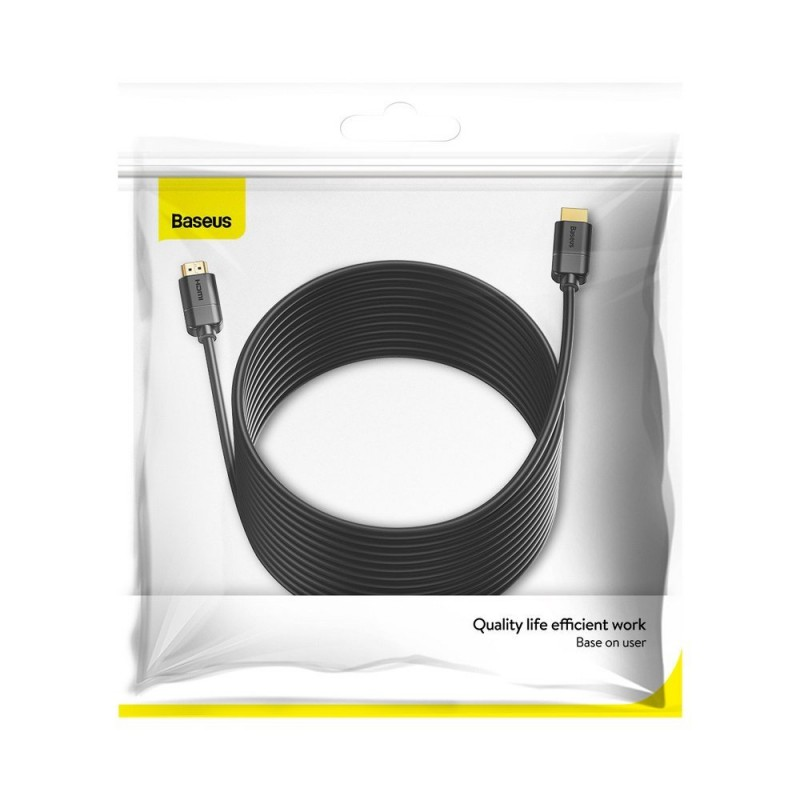 Baseus HDMI 2.0 kábel 4K 60 Hz 3D HDR 18 Gbps 5m - Fekete