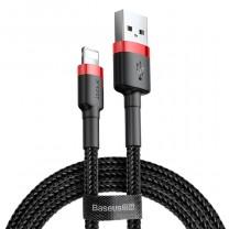Baseus iPhone Lightning gyors adat, töltőkábel 1,5A - 2m  - Piros & Fekete