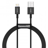 Baseus Superior iPhone adat/töltőkábel 1m 2,4A - Fekete