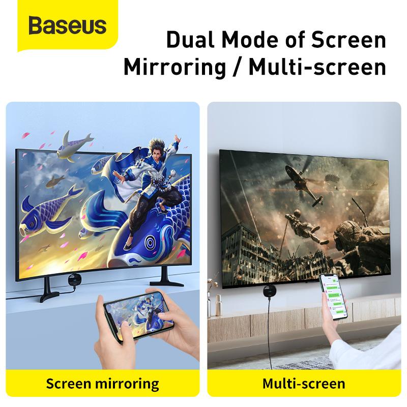 Baseus Meteorite HDMI adapter átalakító, vezeték nélküli videoátvitelhez, Wifi - Fekete