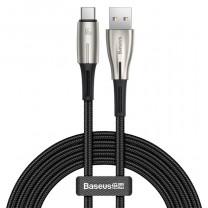 Baseus Water Drop USB-C adat/töltőkábel 66W 6A 2m - Fekete