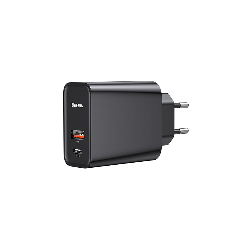 Speed PPS hálózati gyors töltő USB/USB-C QC3.0 30W Baseus - Fekete