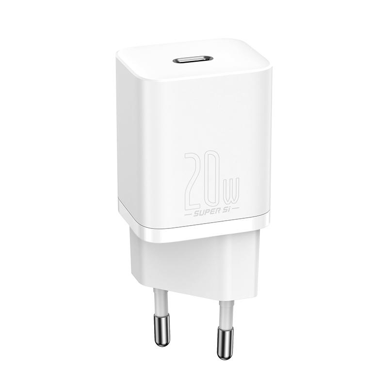 Baseus Super Si USB-C hálózati gyorstöltő 20W - Fehér