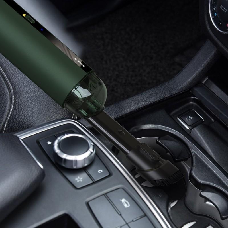Baseus A2 vezeték nélküli mini autóporszívó 70W 5000Pa - Zöld