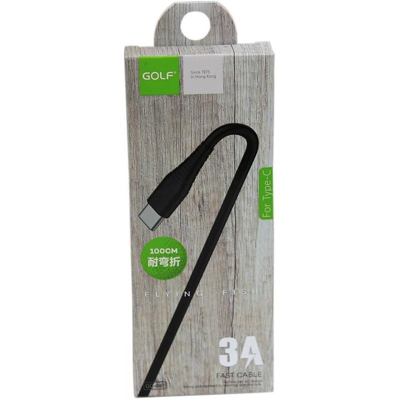 """Golf USB-C adat/töltő kábel """"GC-64t"""" - Fekete"""