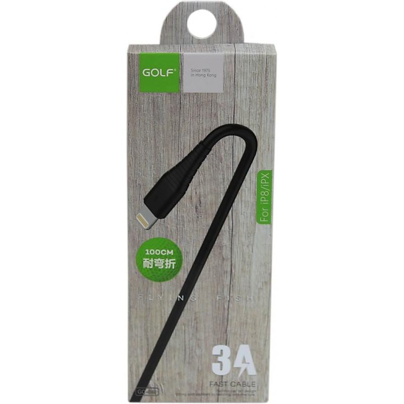 Golf iPhone adat/töltőkábel 3A GC-64i - Fekete