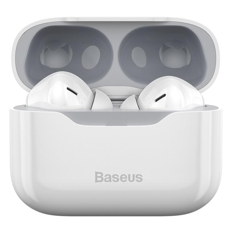 Baseus TWS Vezeték nélküli Bluetooth fülhallgató headset S1 Baseus - Fehér