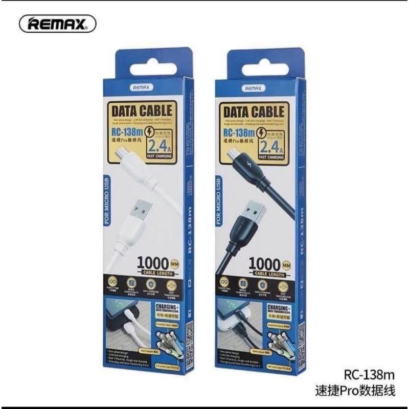 Remax Suji Pro MicroUsb adat/töltőkábel 1m 2,4A - Fehér