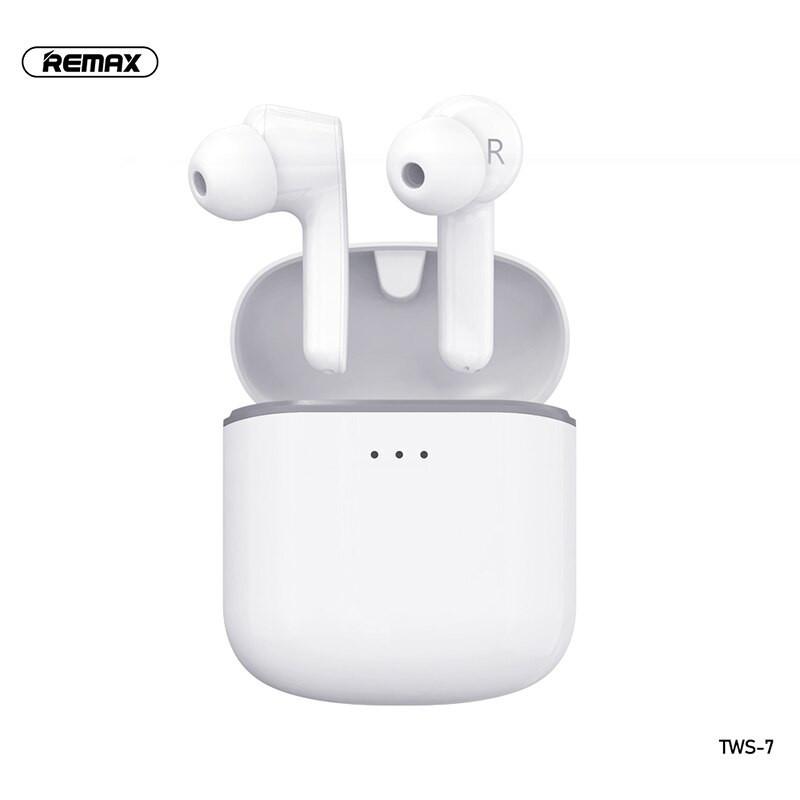 Remax TWS-7 Bluetooth vezeték nélküli fülhallgató/headset - Fehér