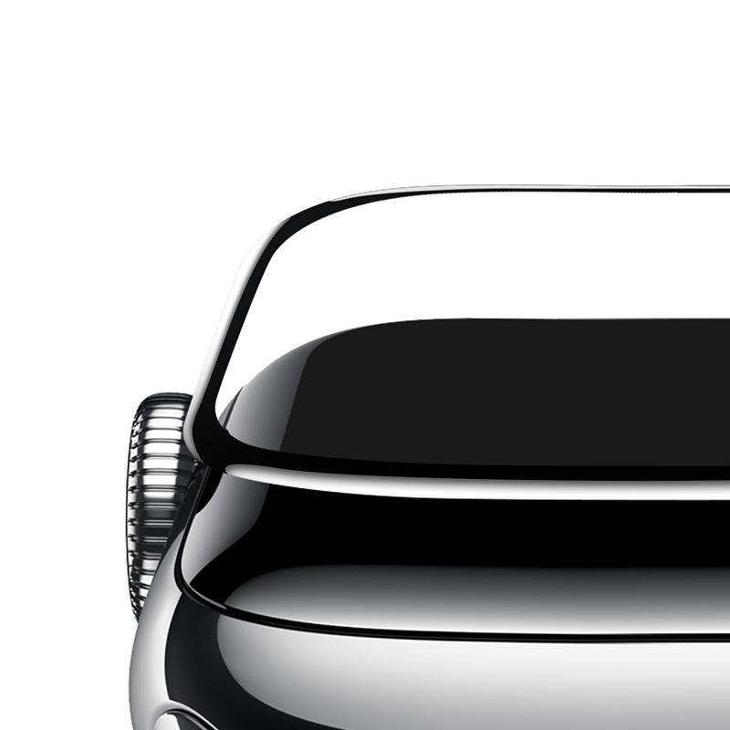 Baseus 38mm Apple Watch 1/2/3 teljes képernyős kijelzővédő üveg - Fekete