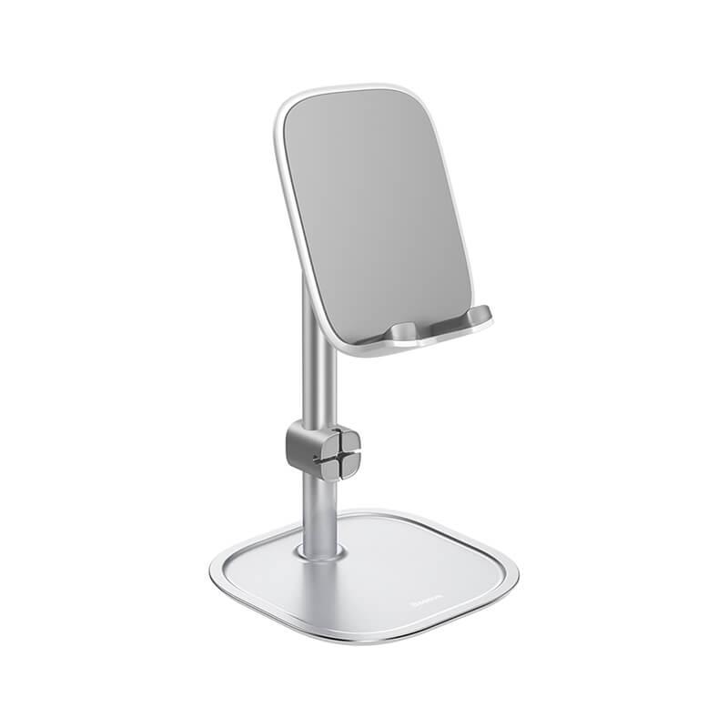 Baseus asztali telefon-tablet tartó - Ezüst
