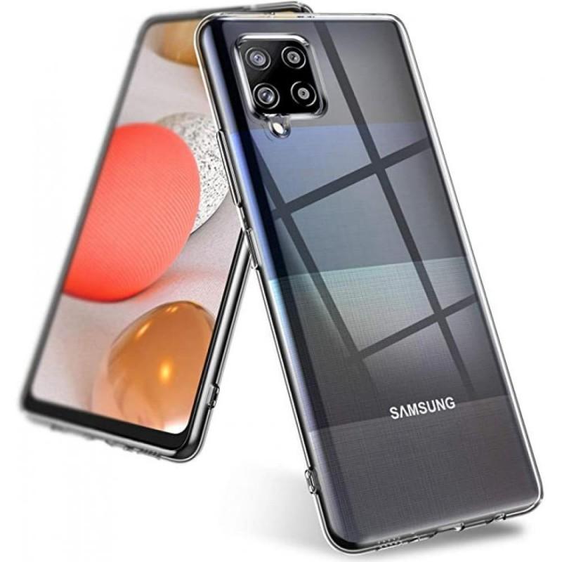 Samsung Galaxy A42 ultra vékony szilikon tok - Átlátszó