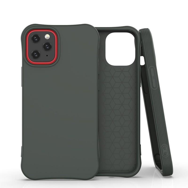 iPhone 11 Soft Color flexibilis gél tok - Sötétzöld