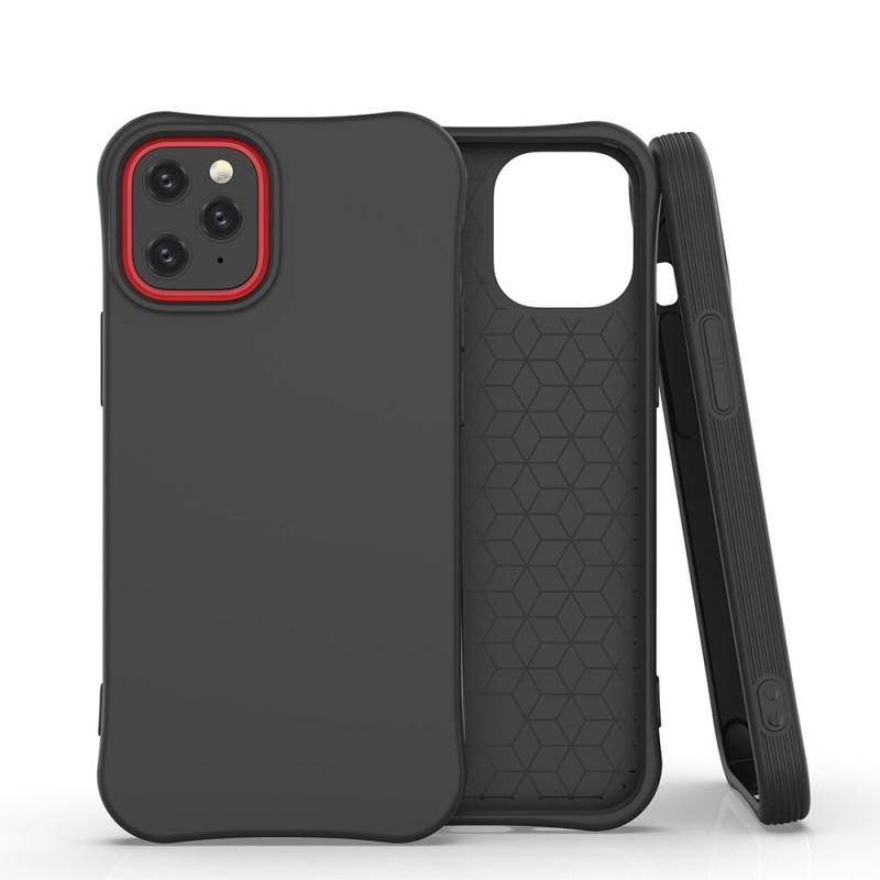 iPhone 12/12 Pro Soft Color flexibilis gél tok - Fekete