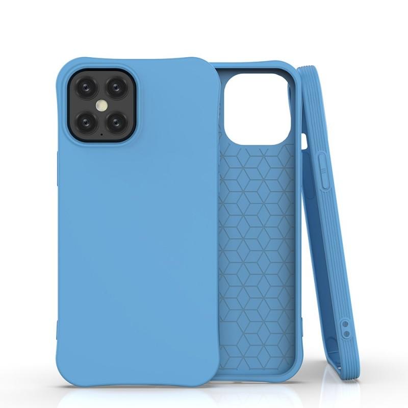 iPhone 12 Pro Max Soft Color flexibilis gél tok - Kék