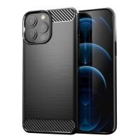 iPhone 13 Pro rugalmas TPU karbon tok - Fekete