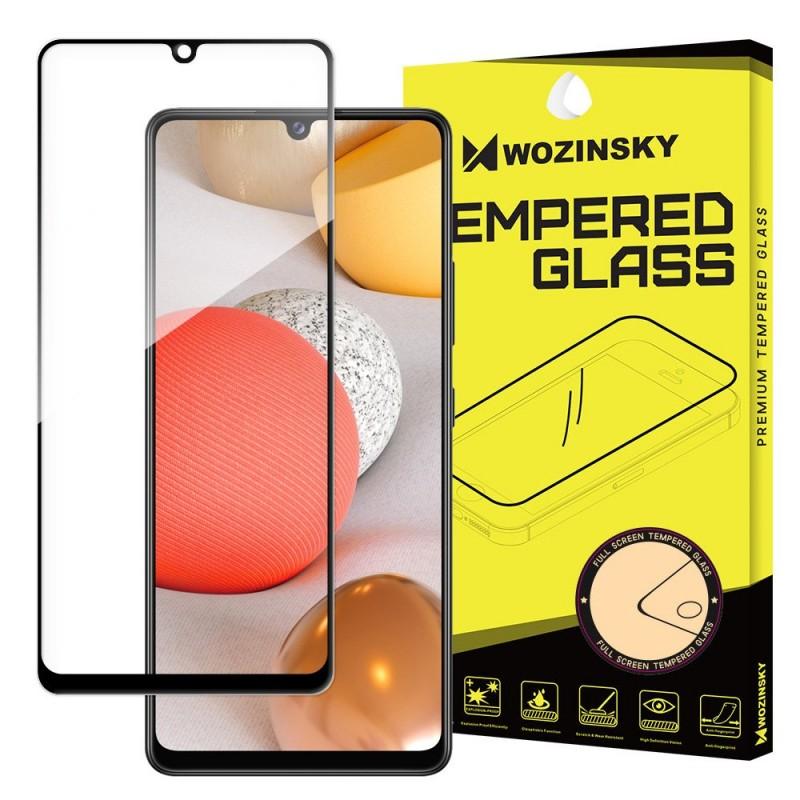 Samsung Galaxy A42 5G üvegfólia teljes felületen tapadó Wozinsky - Fekete