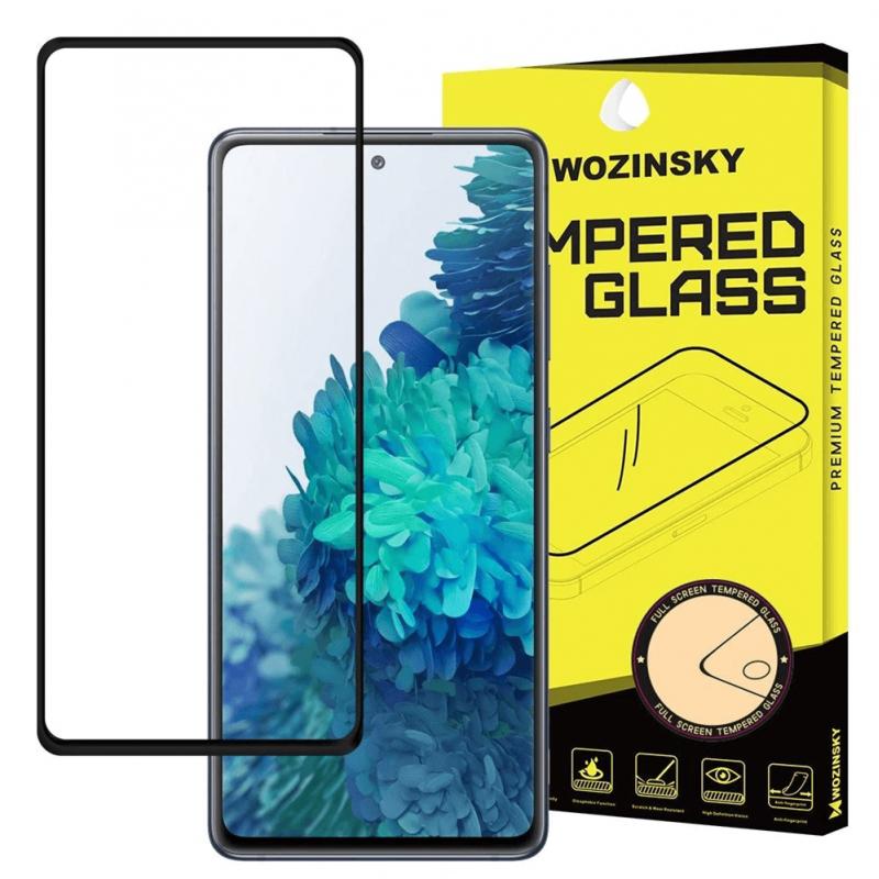 Samsung Galaxy A72 4G üvegfólia teljes felületen tapadó Wozinsky - Fekete