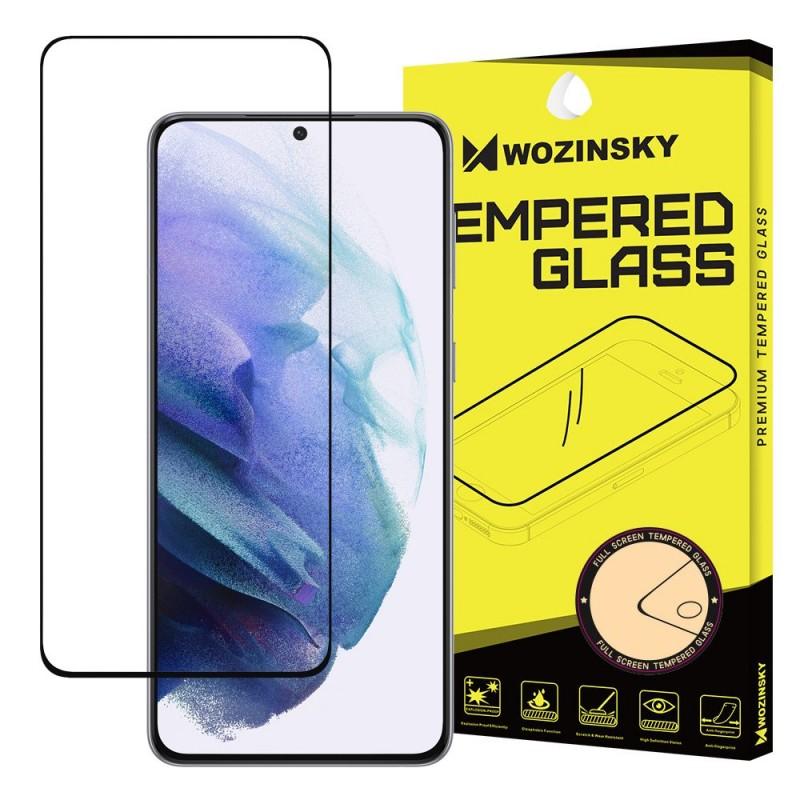 Samsung Galaxy S21 5G teljes felületen tapadó üvegfólia Wozinsky - Fekete