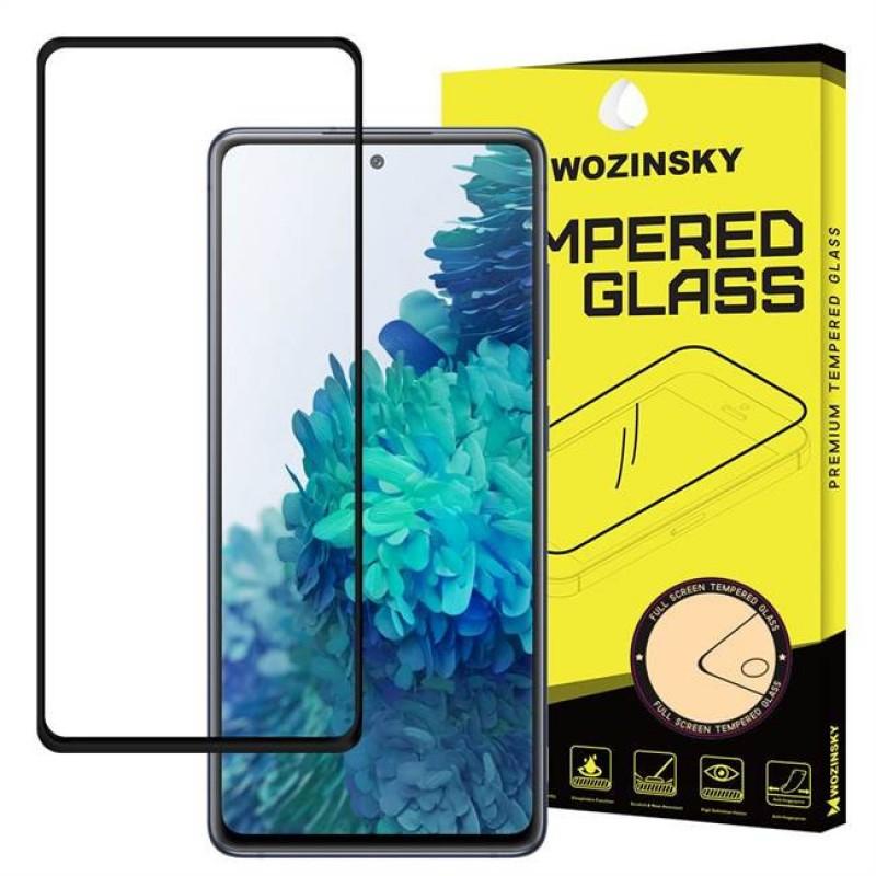 Samsung Galaxy S20FE üvegfólia teljes felületen tapadó Wozinsky - Fekete
