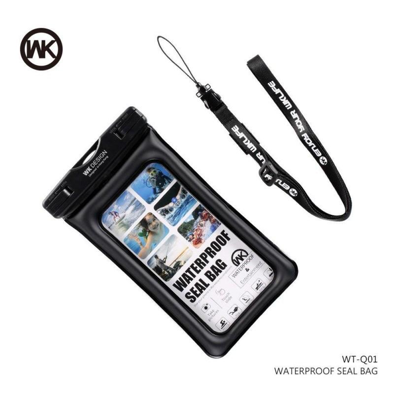 WK vízálló telefontok L-es WT-Q01 - Fekete