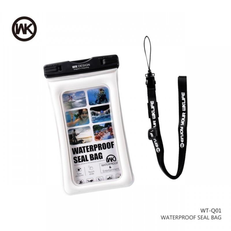 WK vízálló telefontok L-es WT-Q01 - Fehér