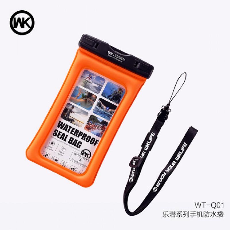 WK vízálló telefontok L-es WT-Q01 - Narancs