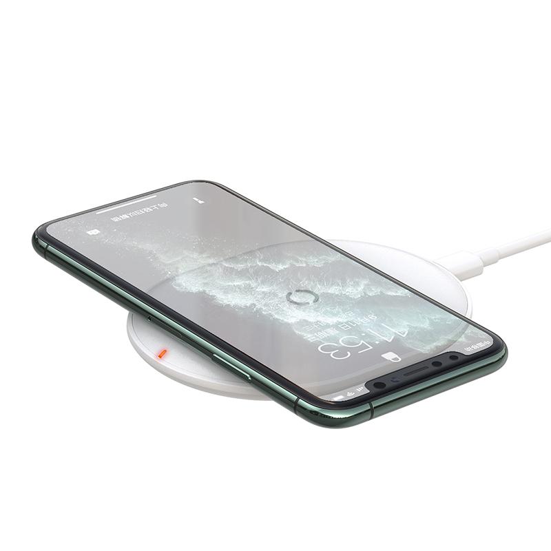 Baseus Cobble Qi vezeték nélküli töltő 15W + USB-C kábel - Fehér