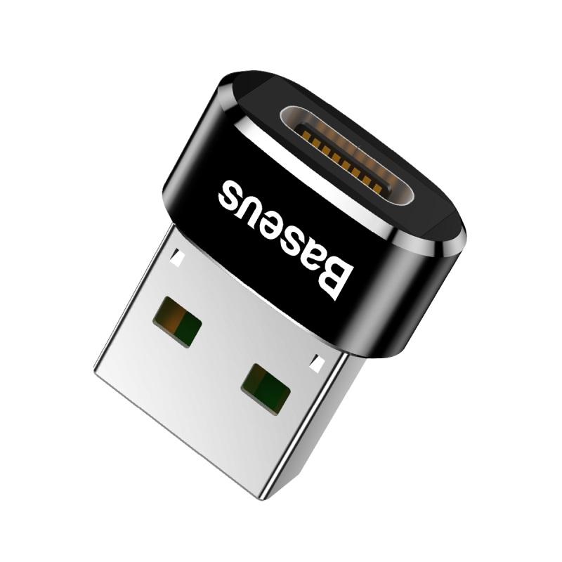 Baseus Type-C/USB átalakító adapter 5A - Fekete