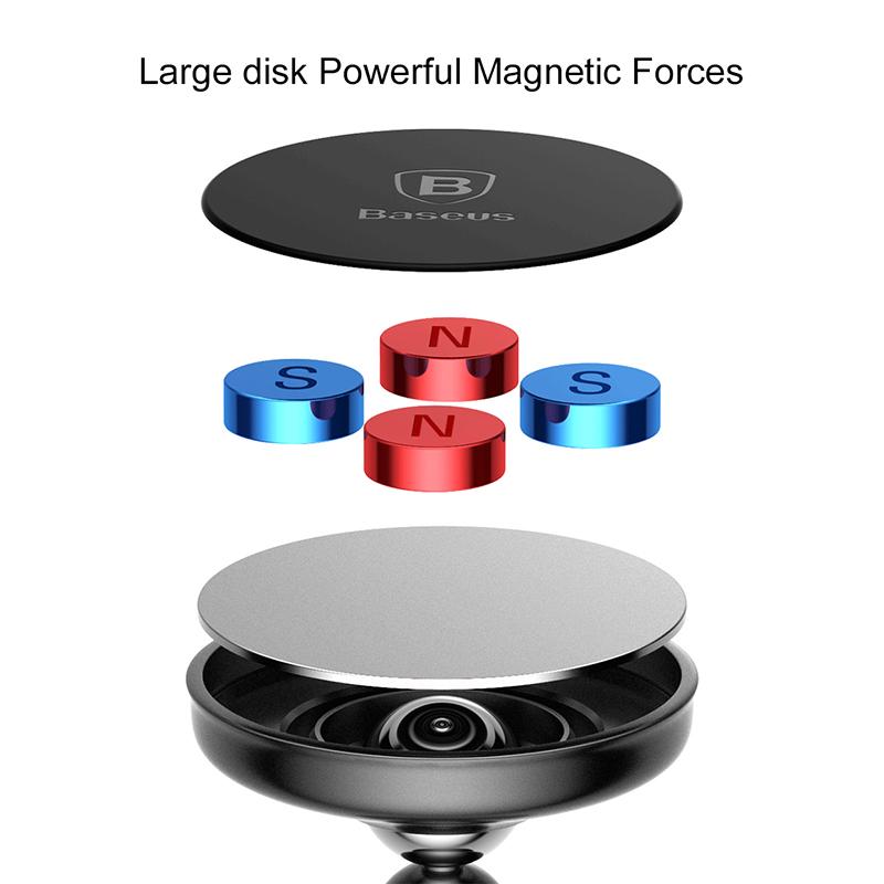 Baseus Bullet mágneses autós telefontartó műszerfalra - Ezüst