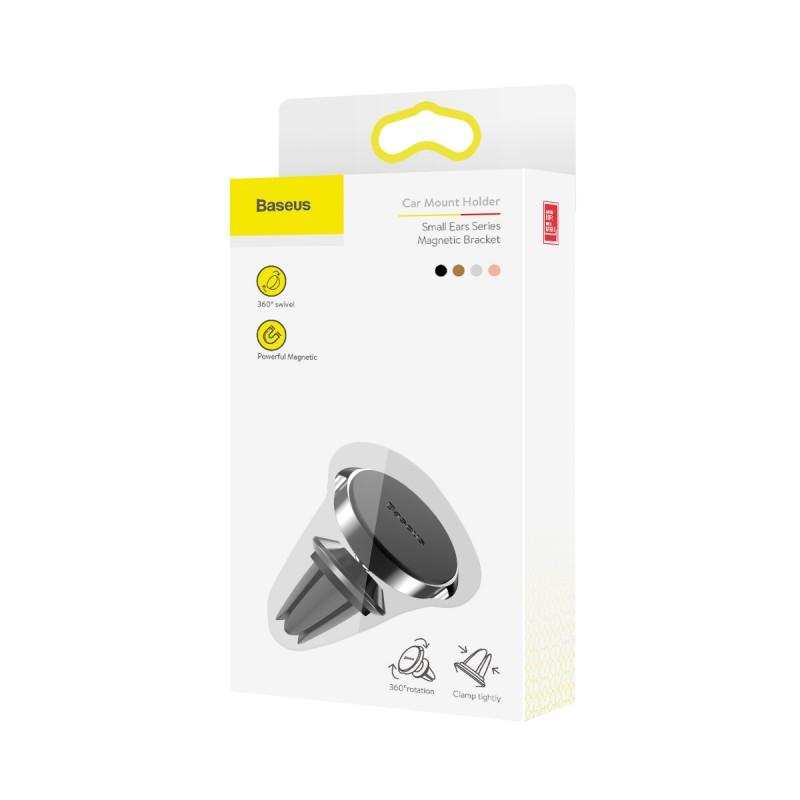 Baseus Small Ears mágneses autós telefontartó szellőzőrácsra - Fekete