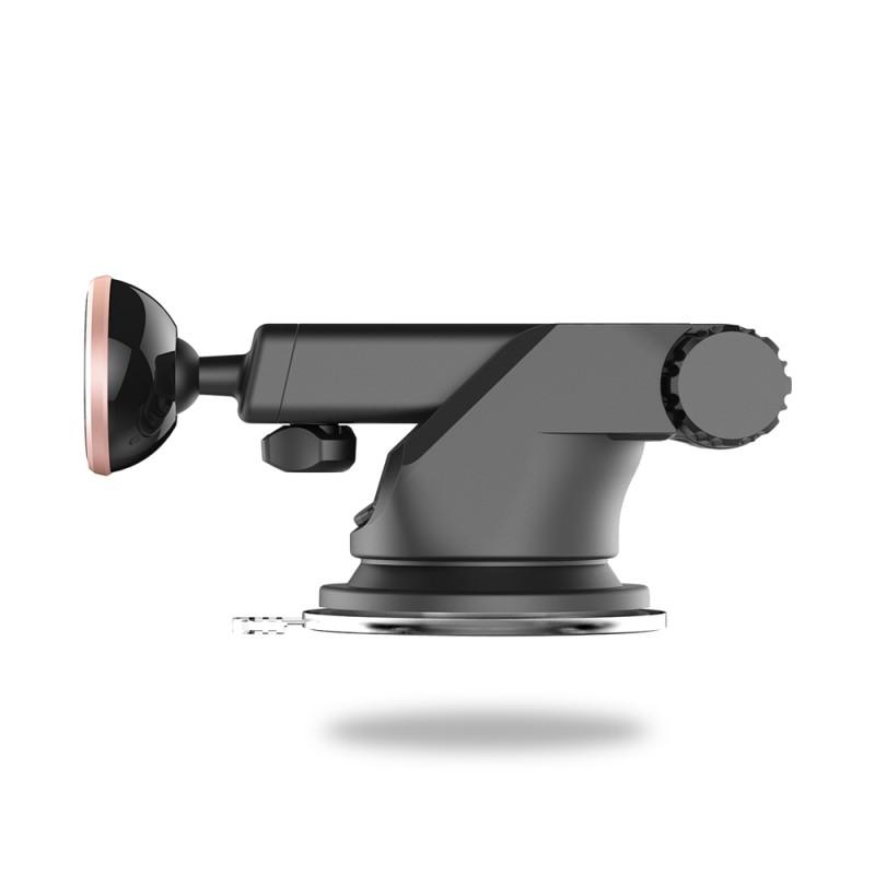 Teleszkópos mágneses autós telefontartó szélvédőre Baseus  - Ezüst