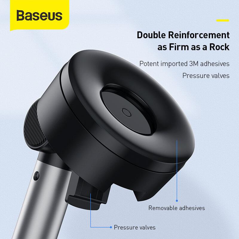 Simplism gavitációs telefontartó műszerfalra-szélvédőre Baseus - Fekete