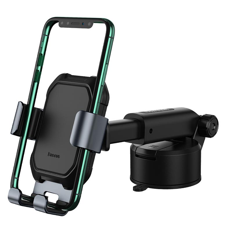 Tank gavitációs telefontartó műszerfalra-szélvédőre Baseus - Fekete