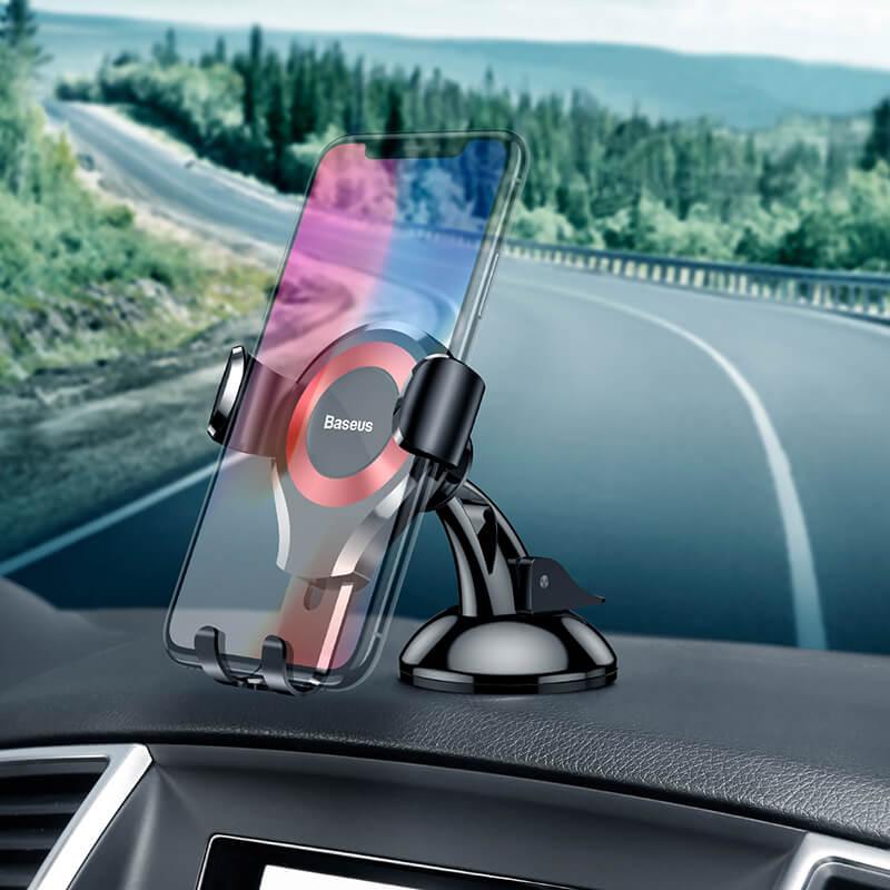 Osculum autós telefontartó szélvédőre, műszerfalra Baseus- Piros