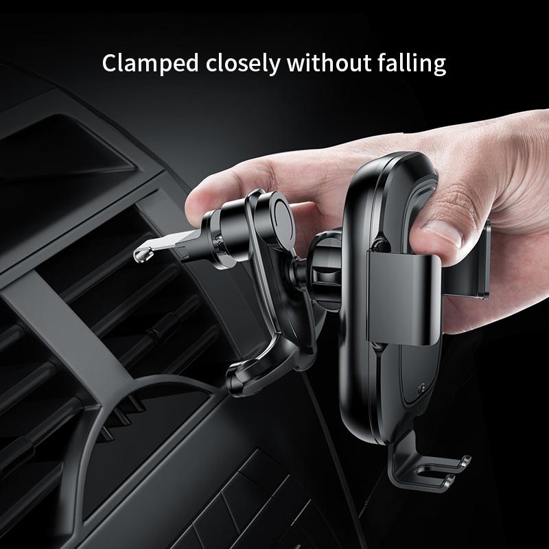 Smart automata autós tartó és töltő 2in1 gyorstöltéssel (10W) Baseus - Fekete