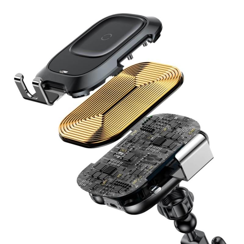 Smart automata autós töltő és tartó 2in1 gyorstöltéssel (10W) Baseus - Fekete