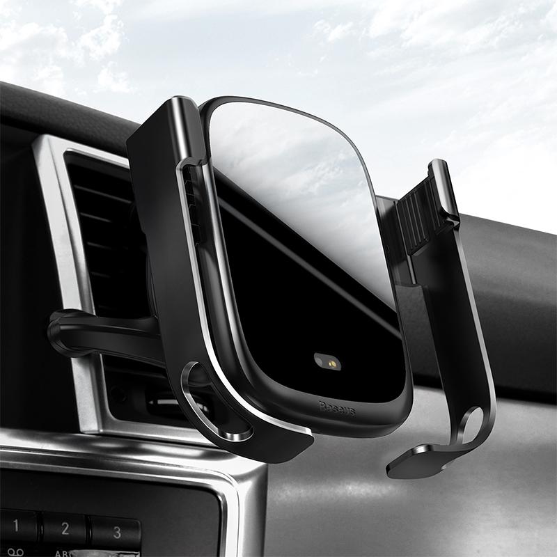 Rock-solid automata autós tartó és töltő 2in1 gyorstöltéssel (10W) Baseus - Ezüst/Fekete
