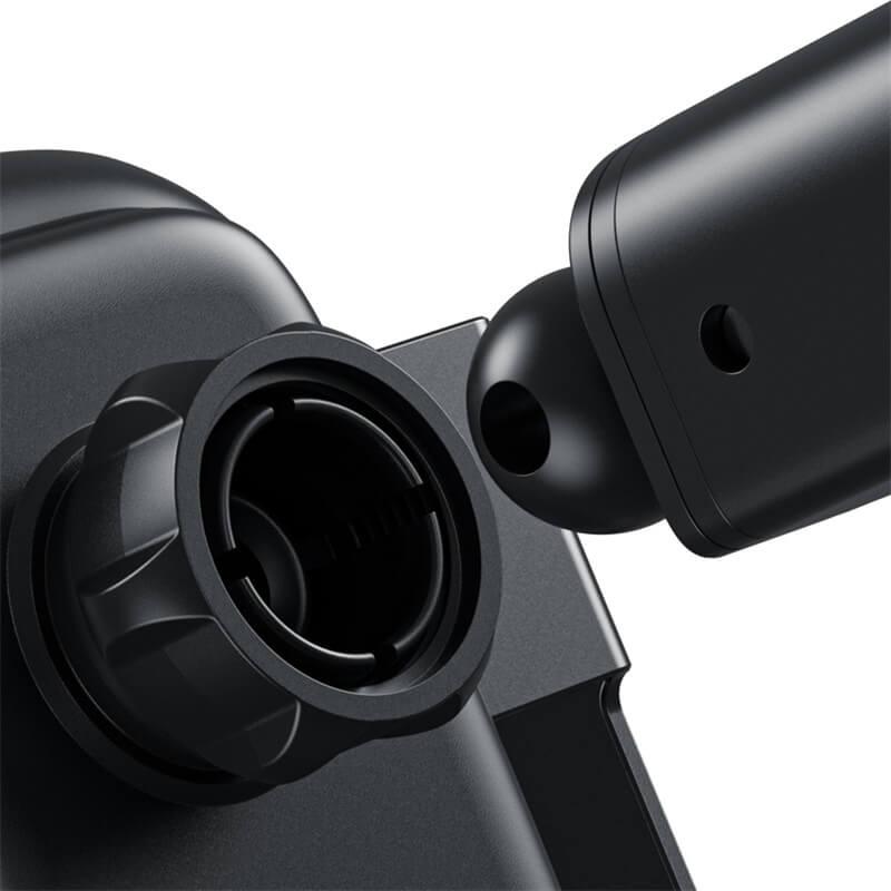 Baseus Rock-Solid automata telefontartó és vezeték nélküli töltő 5in1(10W) - Ezüst
